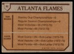 1973 Topps #92   Flames Team Back Thumbnail
