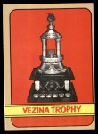 1972 Topps #173   Vezina Trophy Front Thumbnail