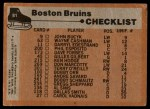 1975 Topps #81   Bruins Team Checklist Back Thumbnail