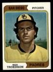 1974 Topps #77 SD Rich Troedson  Front Thumbnail