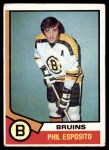 1974 Topps #200  Phil Esposito  Front Thumbnail