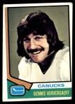 1974 Topps #207  Dennis Ververgaert  Front Thumbnail
