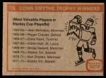 1972 Topps #176   Conn Smythe Trophy Back Thumbnail