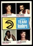 1974 Topps #81   -  Pete Maravich / Walt Bellamy / Lou Hudson Hawks Team Leaders Front Thumbnail