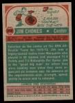 1973 Topps #259  Jim Chones  Back Thumbnail