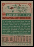 1973 Topps #7  John Brisker  Back Thumbnail