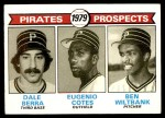 1979 Topps #723   -  Dale Berra / Eugenio Cotes / Ben Wiltbank Pirates Prospects   Front Thumbnail