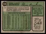 1974 Topps #138  Eddie Brinkman  Back Thumbnail