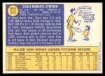 1970 Topps #533  Buzz Stephen  Back Thumbnail