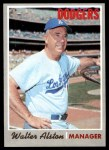 1970 Topps #242  Walter Alston  Front Thumbnail