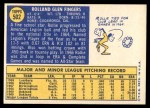 1970 Topps #502  Rollie Fingers  Back Thumbnail