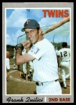 1970 Topps #572  Frank Quilici  Front Thumbnail