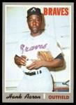 1970 Topps #500  Hank Aaron  Front Thumbnail