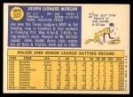 1970 Topps #537  Joe Morgan  Back Thumbnail