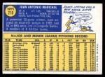 1970 Topps #210  Juan Marichal  Back Thumbnail