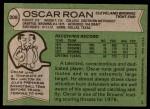 1978 Topps #308  Oscar Roan  Back Thumbnail