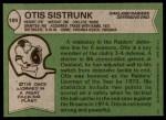 1978 Topps #189  Otis Sistrunk  Back Thumbnail
