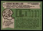 1978 Topps #244  Eddie McMillan  Back Thumbnail