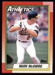 1990 Topps #690  Mark McGwire  Front Thumbnail