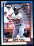 1990 Topps #700  Kirby Puckett  Front Thumbnail