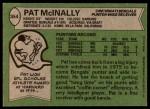 1978 Topps #354  Pat McInally  Back Thumbnail