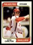 1974 Topps #95  Steve Carlton  Front Thumbnail