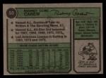 1974 Topps #50  Rod Carew  Back Thumbnail