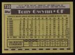 1990 Topps #730  Tony Gwynn  Back Thumbnail