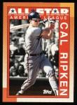1990 Topps #388   -  Cal Ripken All-Star Front Thumbnail