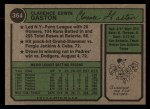 1974 Topps #364 SD Cito Gaston  Back Thumbnail