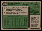 1974 Topps #504  Joe Niekro  Back Thumbnail