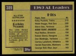 1990 Topps #389   -  Robin Yount All-Star Back Thumbnail