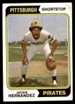 1974 Topps #566  Jackie Hernandez  Front Thumbnail