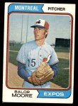 1974 Topps #453  Balor Moore  Front Thumbnail