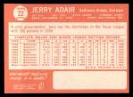 1964 Topps #22  Jerry Adair  Back Thumbnail