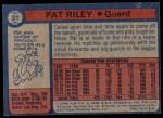 1974 Topps #31  Pat Riley  Back Thumbnail