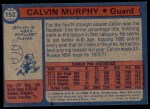 1974 Topps #152  Calvin Murphy  Back Thumbnail