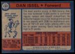 1974 Topps #190  Dan Issel  Back Thumbnail