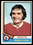 1974 Topps #257  Michel Plasse  Front Thumbnail