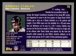 2001 Topps #70  Brandon Stokley  Back Thumbnail
