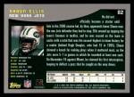 2001 Topps #82  Shaun Ellis  Back Thumbnail