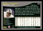2001 Topps #124  Richie Anderson  Back Thumbnail
