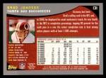 2001 Topps #131  Brad Johnson  Back Thumbnail