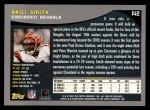 2001 Topps #142  Akili Smith  Back Thumbnail