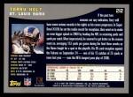 2001 Topps #212  Torry Holt  Back Thumbnail