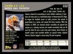 2001 Topps #222  Charles Lee  Back Thumbnail