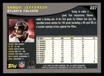 2001 Topps #227  Shawn Jefferson  Back Thumbnail