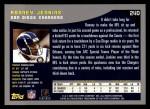 2001 Topps #240  Ronney Jenkins  Back Thumbnail