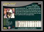 2001 Topps #265  Lamar Smith  Back Thumbnail