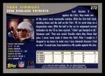 2001 Topps #272  Tony Simmons  Back Thumbnail